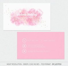Free Customize Pink Business Card Calling Card for Make by JustPSD #UniqueBusinessCards