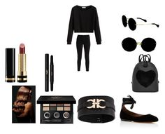 """""""/"""" by bvby-bre ❤ liked on Polyvore featuring Hollister Co., Tabitha Simmons, Miu Miu, Salvatore Ferragamo, Bobbi Brown Cosmetics, BaByliss, Gucci and Yves Saint Laurent"""