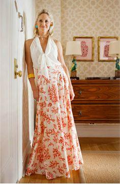 Coral Ball Skirt. $350.00, via Etsy.