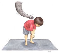 Make your body into the shape of an elephant at the zoo.