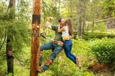 One of my favorite engagement pictures! Photography by Fusion Studios Lineman Love, Power Lineman, Wedding Pics, Dream Wedding, Wedding Things, Wedding Ideas, Lineman Shirts, Picture Poses, Picture Ideas