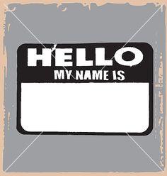 Hello name tag vector on VectorStock&reg