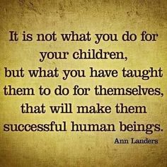 Very true quote for parents