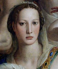 Agnolo Bronzino (1503-1572) - Costanza da Sommaia (Detail from Christ's descent into Limbo), 1552