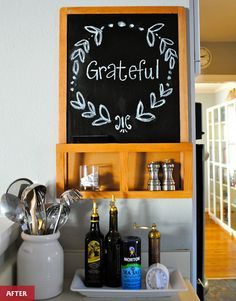 Chalkboard + Thanksgiving // Before / After : Chalkboard Refresh | Modern Eve