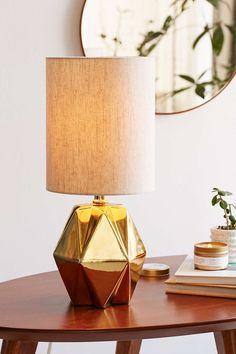 Lampe de table multifacettes pastel