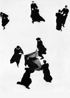 Priests by Mario Giacomelli.