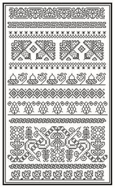 Blackwork patterns  I just LOVE Blackwork. It is so elegant and dainty.