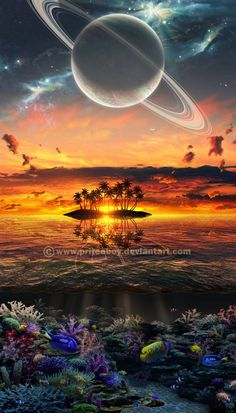 galaxy in cosmos Planets Wallpaper, Wallpaper Space, Galaxy Wallpaper, Wallpaper Backgrounds, Fantasy Landscape, Fantasy Art, Art Galaxie, Planets In The Sky, Space Planets