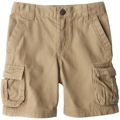 Cherokee Infant Toddler Boys' Cargo Short (28 BRL) ❤ liked on Polyvore featuring baby, kids, baby clothes, boys and baby boy clothes