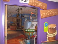 Children's Hospital of Pittsburgh, exterior of a CT scan room — pirate theme