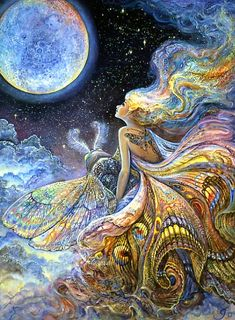 """Fly me to the Moon and let me play among the stars"" by Josephine Wall"