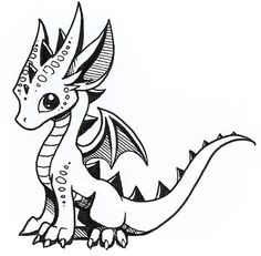Cute little dragon...