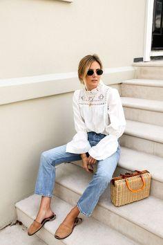Lucy Williams - Summer Bohemian Style Inspiration - Light denim Jeans - Fashion