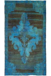 overdyed vintage rug.