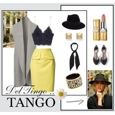 Del tingo al tango by marmurillogo on Polyvore featuring Miriam Salat, Palm Beach Jewelry, Maison Michel and Rockins