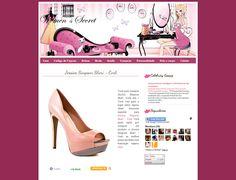Women's Secret Blogger Template - Template Feminino - Templates para Blog Blogger
