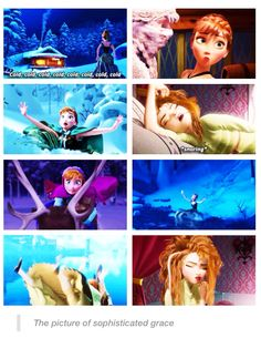 The picture of sophisticated grace... <<< being a ginger, I would say that Anna is me as a princess... Definetly