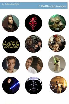 I& sharing free digital bottle cap images I created Beer Bottle Caps, Bottle Cap Art, Bottle Cap Images, Beer Caps, Bottle Top Crafts, Bottle Cap Projects, Theme Star Wars, Star Wars Party, Keychain Images