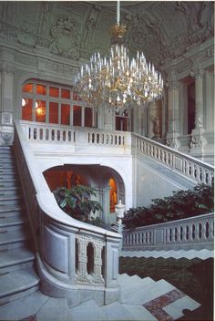 The grand staircase at the Yusupov Palace, St. Petersburg.