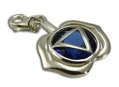 $39 for Good Vibes Forehead Chakra Stone Charm with Sapphire Cubic Zirconia. on DealsAlbum.com