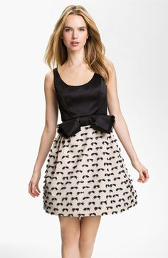 Milly 'Dominique' Fit & Flare Dress | Nordstrom  oh how I want this dress but the bow will have to go. way to big!