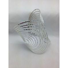Brazalete de acero calada y ancha, de Lineargent/Pulsera de acero http://relojesplatayacero.com/