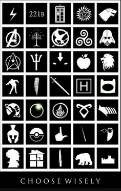 Homestuck, Pokemon, Avatar the Last Airbender, Percy Jackson, Adventure Time. I can name others I recognize but those I listed are my life. Fandoms Unite, Fandom Symbole, We All Mad Here, Iphone 4, Film X, Cultura Nerd, Fangirl, Pokemon, Hitchhikers Guide