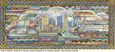 Ascalon Studios - City in Rebirth art deco mosaic mural - Mosaic ...