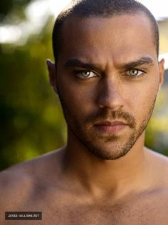 Jesse Williams with his eyes