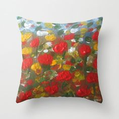 Floral Pillow CoverFine Art Pillow CoverFloral by RakheeKrishna