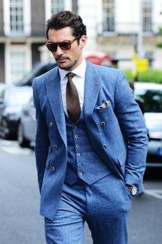 David Gandy in a 3-piece suit // Savile Row