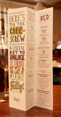Zizzi Menu Suite by Tobias Hall, via Behance