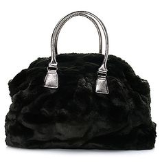 "723-946 - Donna Salyers Fabulous-Furs '""Couture"" Faux Fur Double Handle Weekender Bag"