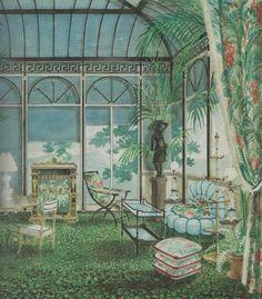 Madeleine Castaing-1948 Salon des Antiquaires-Alexandre Serebriakoff watercolor