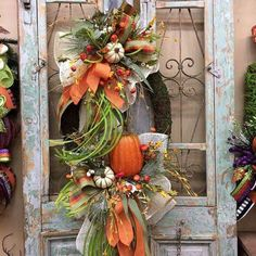 Excited to share this item from my shop: Fall Wreath, Thanksgiving Wreath, Pumpkin Wreath Easy Fall Wreaths, Thanksgiving Wreaths, Thanksgiving Decorations, Fall Door Wreaths, Autumn Decorations, Halloween Wreaths, Winter Wreaths, Spring Wreaths, Summer Wreath