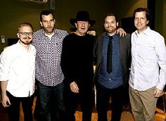 Tony Joe White and his band hang with City Winery's Mike Simon and CAA's Brad Bissell after playing the venue Feb. 5 in Nashville, Tenn. (Rick Diamond/Getty Images for City Winery)