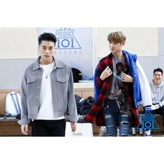 Cre: the owner/as logo Produce 101 Season 2, Denim, My Love, Celebrities, Coat, Jackets, Kpop, China, Fashion