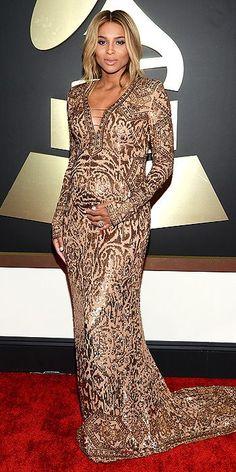 Ciara in Emilio Pucci at Grammys Awards 2014