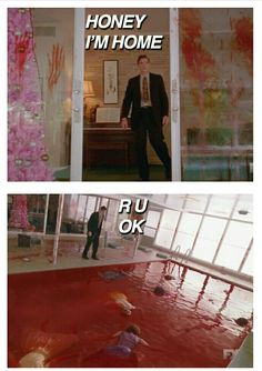 AHS: Freak show, episode 9 Tupperware Party Massacre - blood bath