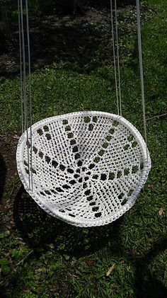 Ravelry: Ramador Chair Swing pattern by Ramador Custom Crochet.  Uses paracord.  Pattern is $5.99.