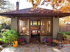 [BY 가치] 아지트 삼고싶은 작은집 · 미니하우스 · 소형주택         취미활동 할 수 있는 작은 작업실,...
