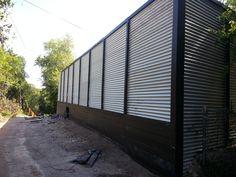 Corrugated Metal Fence Panels Fences Pinteres