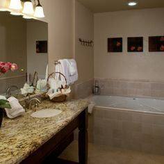 Our luxurious bathrooms won't leave you disappointed. #Breckenridge #GrandLodgeonPeak7