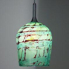 Jade light custom made by Chris Johnson Glass
