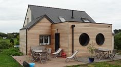 Extension ossature bois House Extensions, Architecture, Ideal Home, Shed, New Homes, Outdoor Structures, Construction, Exterior, Patio