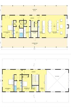 5 Must See Barn House Plans - House Topics Shed Homes, Log Homes, Metal Building Homes, Building A House, Barn Style House Plans, Gambrel Barn, Tuff Shed, Barndominium Floor Plans, White Barn