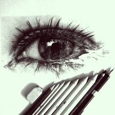 Amazing #sketch of a gorgeous eye