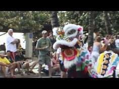 CHINESE INFLUENCE IN HAWAII, (DRAGON DANCE) USA.  youtube.com/globalvideopro1 globalvideoprotv.com