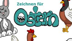 Zeichnen zu Ostern Disney Characters, Fictional Characters, Draw, Children Drawing, Chickens And Roosters, Easter, Creative, To Draw, Drawings